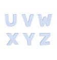 3d pixelated capital letter set outline vector image vector image