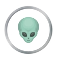 Alien icon in cartoon style isolated on white vector image vector image