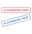 allergens free textile stamps vector image vector image