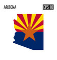 arizona map border with flag eps10 vector image
