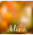 autumn background with hand drawn lettering vector image