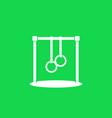 bar with gymnastics rings icon vector image vector image