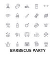 barbecue party grill garden party meat picnic vector image vector image