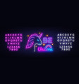 be unicorn neon sign design template vector image