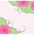 Beautiful background with roses vector image vector image