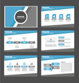 Blue and grey presentation templates Infographic vector image