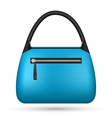 Blue woman bag isolated on white vector image vector image