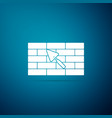 brick wall with trowel icon isolated vector image