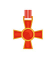 bright red cross of valour honorary order of vector image vector image