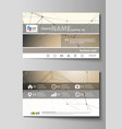 business card templates easy editable layout vector image vector image
