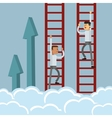 businessman climbing ladder icon vector image vector image