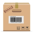 Cardboard Box for delivery vector image vector image