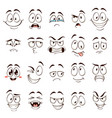 cartoon faces caricature comic emotions with vector image