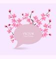 Cherry blossom tree spring banner - speech bubble