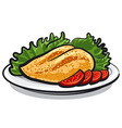 chicken breast vector image vector image