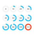 circle progress bar vector image vector image