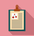 clipboard learning physics icon flat style vector image vector image