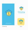 cloud dollar company logo app icon and splash vector image
