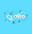 cloud storage text concept modern flat style vector image