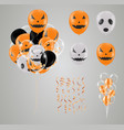 confetti and set halloween transparent balloon vector image