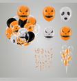 confetti and set halloween transparent balloon vector image