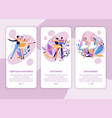 dance classes online web page template ballet vector image vector image