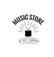 drum icon music store logotype label emblem vector image