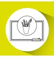education concept blackboard with tools school vector image