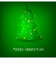 Elegant christmas tree background vector image vector image