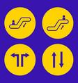 escalator icon vector image
