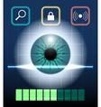 Eye Biometrics vector image