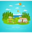 Family Camping vector image vector image