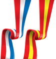 france and spain ribbon flag vector image vector image