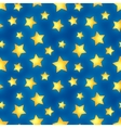 Glossy golden stars on blue seamless pattern vector image vector image