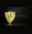 gold luxury shield protection premium security vector image
