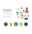 Grooming web design concept for website and vector image