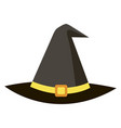 halloween icon witch magic black hat vector image