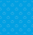 hamburger pattern seamless blue vector image