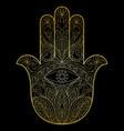 hand of fatima vector image vector image