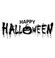 happy halloween text for banner and title vector image