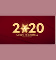happy new 2020 year elegant text template with vector image