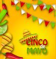 holiday celebration banner for cinco de mayo vector image vector image