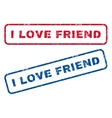I Love Friend Rubber Stamps vector image vector image
