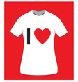 I love t-shirt for women vector image