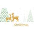 landscape christmas scene with reindeer couple vector image