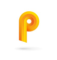 Letter P logo icon design template elements vector image vector image