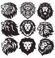 lion logo set collection premium pack vector image vector image