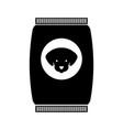 mascot food bag icon vector image
