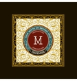 Monogram emblem template logo design vector image vector image