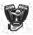 motorcycle engine v-twin motor object vector image vector image